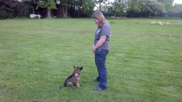 Alla and her handler